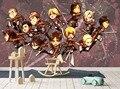 [Auto-Adesivo] 3D Attacco Su Titano Fumetto Bambino 8 Del Anime del Giappone Della Parete di Carta murale Della Parete Decalcomania di Stampa parete Murales
