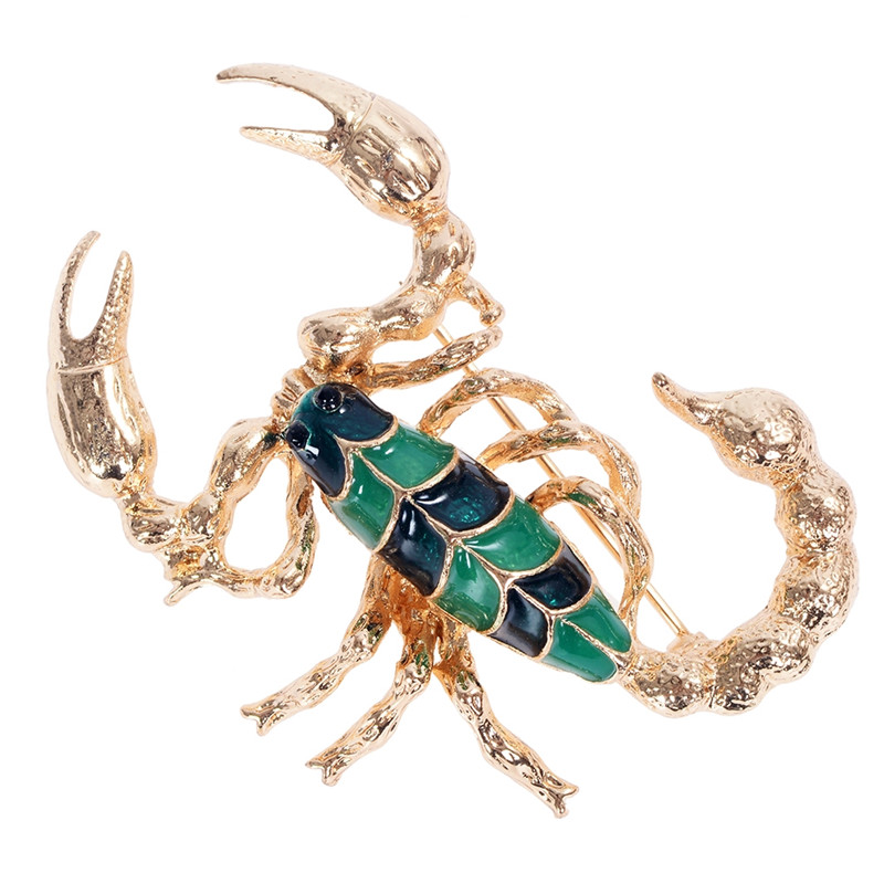 10 Styles Scorpion Animals Flower Metal Brooch Pins For Women Crystal Brooches Fashion Jewelry Accessories Broche Pins in Brooches from Jewelry Accessories