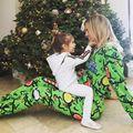 Семьи Рождественских Пижамы Установить Женщины Ребенок Олень Пижамы Пижамы Женский Милый Костюм