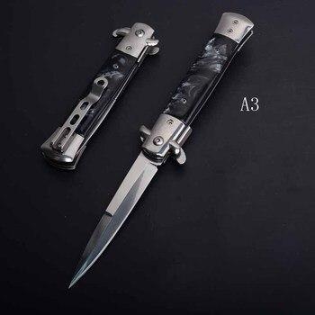 PEGASI CS claw knife quick folding knife 440C acrylic wood handle pocket folding knife camping hunting survival EDC tool 3