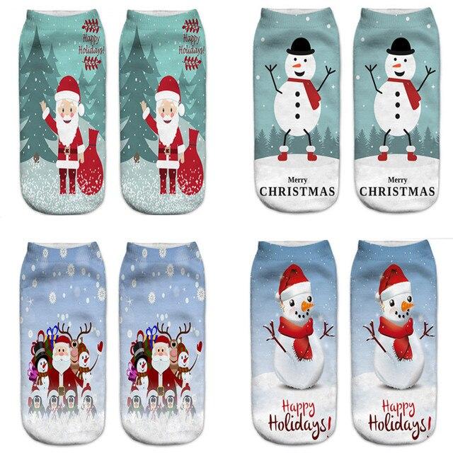 Los niños de dibujos animados de Navidad calcetines de regalo 3D ...