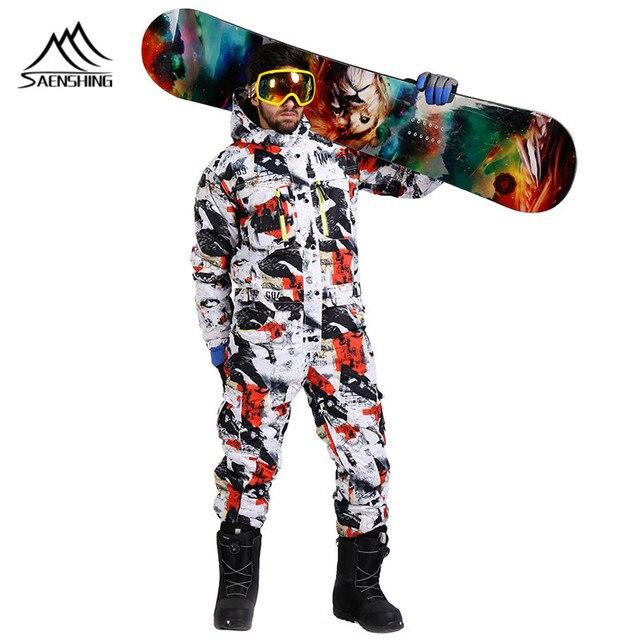 43a8ed6620b SAENSHING snowboard jacket one piece ski suit men winter waterproof thick warm  ski jumpsuit Sport Snowboard and mountain skiing