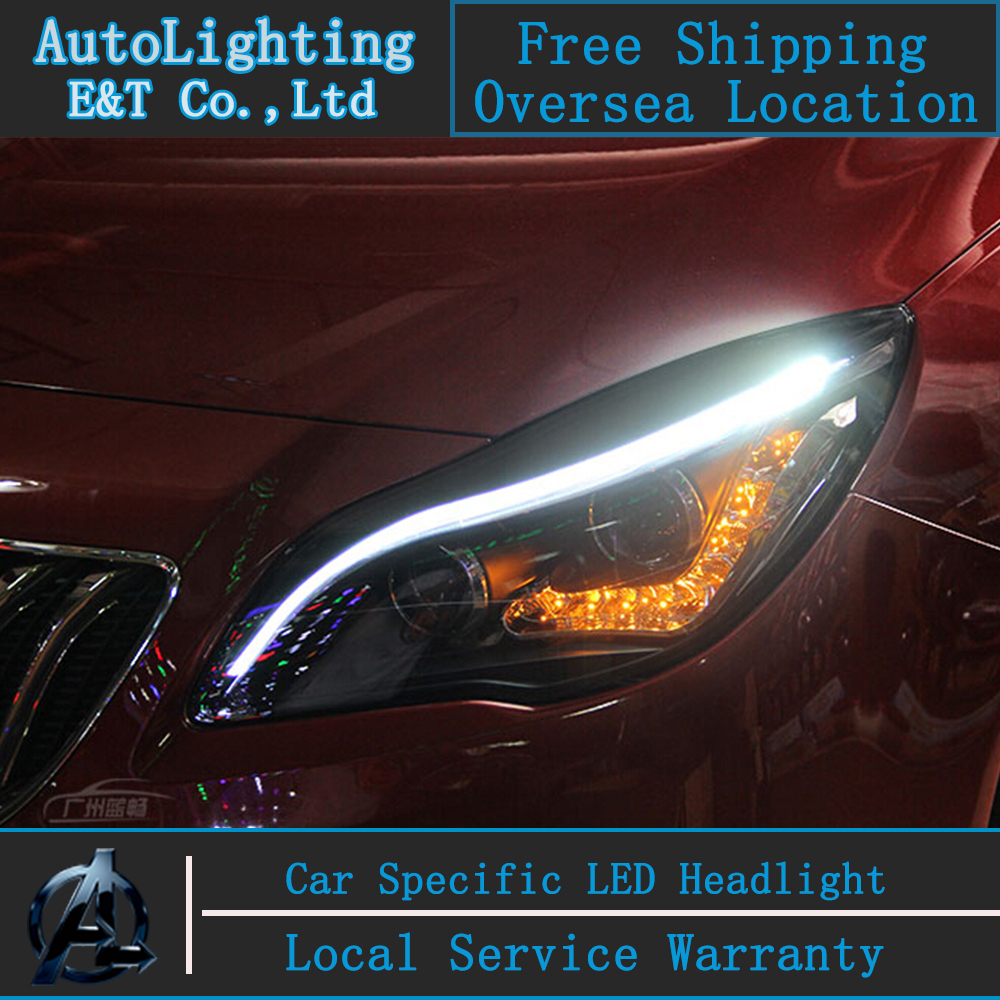 Car Styling Opel Insignia headlight Assembly 2014 insignia led headlight led drl Bi-Xenon Lens with hid kit 2pcs. hireno headlamp for hodna fit jazz 2014 2015 2016 headlight headlight assembly led drl angel lens double beam hid xenon 2pcs