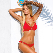 CV Bikini Swimwear  women Bandage Bikini Sets Push Up Bra
