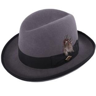 085c7abfb Stacy Aoams 100%Genuine Wool Felt Trilby Fedora homburg Hat for men ...