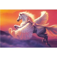 DIY Diamond Painting Stickers Decorative Painting Rhinestone Mosaic 5D Cross Stitch Embroidery Girl And Horse Pattern