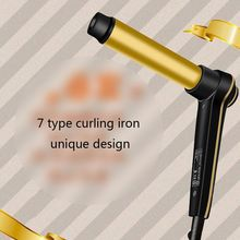 Hair Curler Wand Professional Curling Gold Ceramic Roller LC