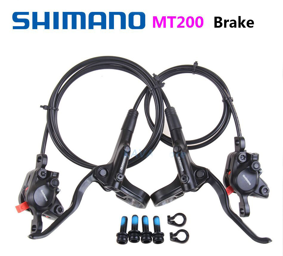 Shimano MT200 Hydraulic Brakes for Bikes BR-BL-MT200 Brake MTB Bicycle Disc Brake clamp Mountain Brake pads M315 new model 2018 shimano m315 mtb bike hydraulic disc brake set clamp mountain brake bicycle disc brake original bicycle brakes free ship