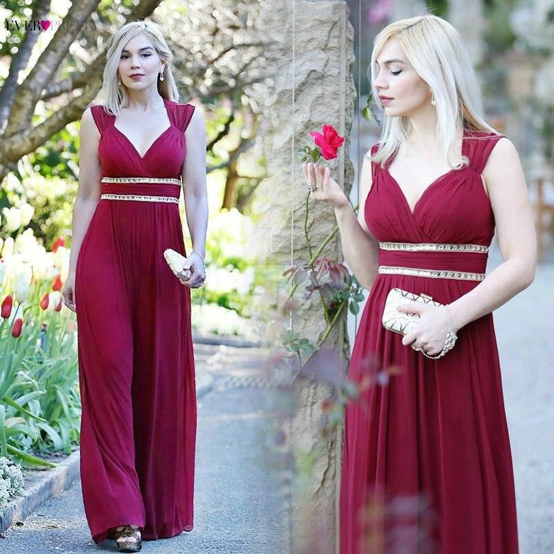 75804474d06 Ever-красивые вечерние платья EP08697 женские красивые элегантные  трапециевидные сексуальные белые v-образный вырез Длинные Выпускные платья  ве.