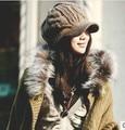 Утолщение шерсть шляпа женщин 2013 супер теплый все матч крышка пик сделать V форма маленькое лицо оптовая Рождественский Подарок CP004