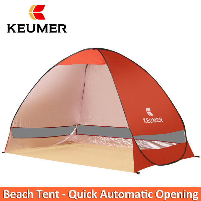 Automatique Pop Up tente instantanée Portable extérieure rapide Cabana tente de plage Anti UV abri solaire pour la pêche 2 personnes Sandbeach Play