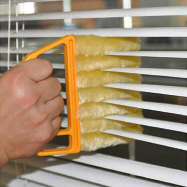 1 Pc Plastic Fiber Window Duster Cleaner Blinds Air Conditioner Cleaning Brush Multifunctional Home Kitchen Washing