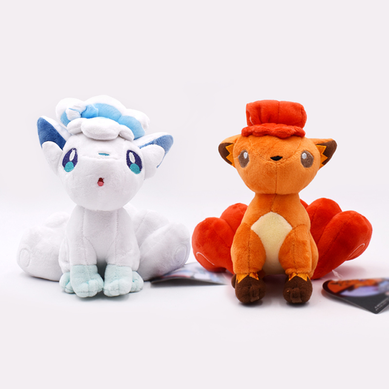 2 Styles Vulpix Alola Ice Vulpix Plush Toy Stuffed Dolls Plush Doll Gifts For Children Free Shipping