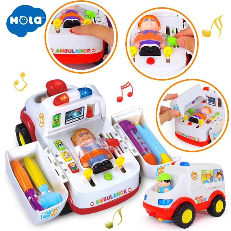 무료 배송 음악 / 조명 / 소형 부품 아동 퍼즐 - 장난감 차량