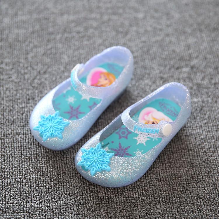 Detailhandel Baby Girls Sandaler Elsa Snefnug Sko Børn Elsa Anna Prinsesse Sko Summer Girl Sandal Infantil Sandalia 1-3Y