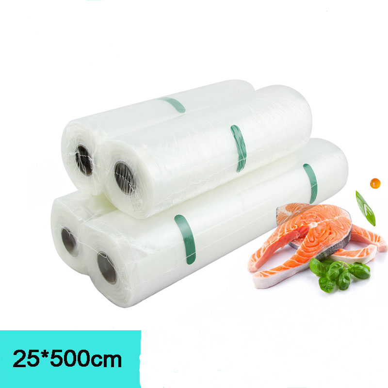 2 Rolls / 1 Slot 25*500cm Vacuum Sealer Bags Food Storage Bags for Vacuum Sealer Fresh Food Packing Packer2 Rolls / 1 Slot 25*500cm Vacuum Sealer Bags Food Storage Bags for Vacuum Sealer Fresh Food Packing Packer