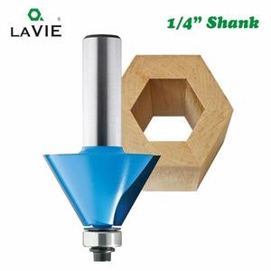 """Image 4 - LA VIE 1 st 1/4 """"Shank 15 Graden 22.5 Graden Afschuining Bevel Rand Router Bit Frees voor Hout houtbewerking Bits MC01027"""