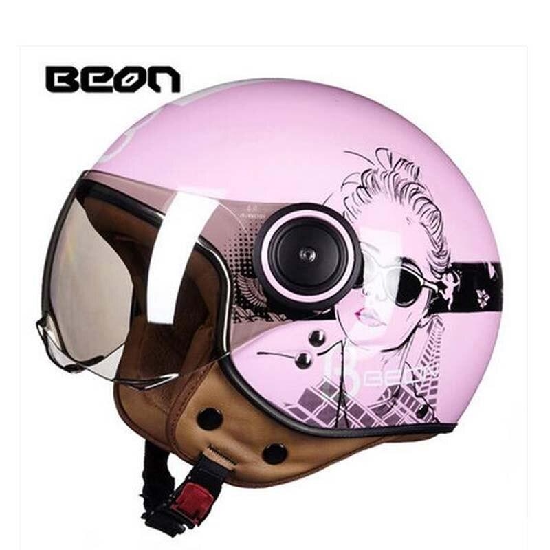 2017 Automne hiver BEON Rétro Moto casque B-110B motocross moto casques en ABS et PC lentille visière taille M L XL