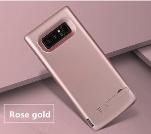 Image 4 - סוללה מטען קייס 6500 mah עבור Samsung Galaxy הערה 8 רך TPU טעינת טלפון כוח כיסוי לסמסונג הערה 8 סוללה מקרה