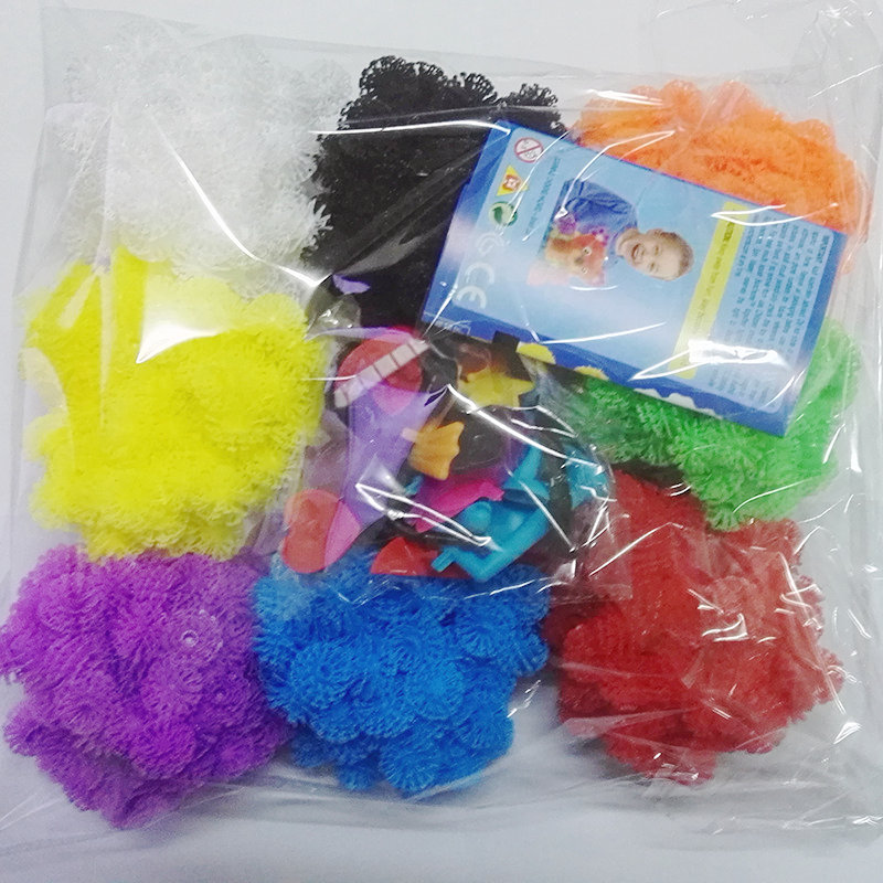 1000PCS/Set Assemble 3D Puzzle DIY Puff Ball Squeezed Ball Creative Thorn Ball Creative Handmade Educational Toys Without Box