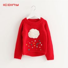87cdbe1269a6 Suéter rojo de punto de algodón negro Cardigan ropa para bebé niñas niños  suéter caliente con