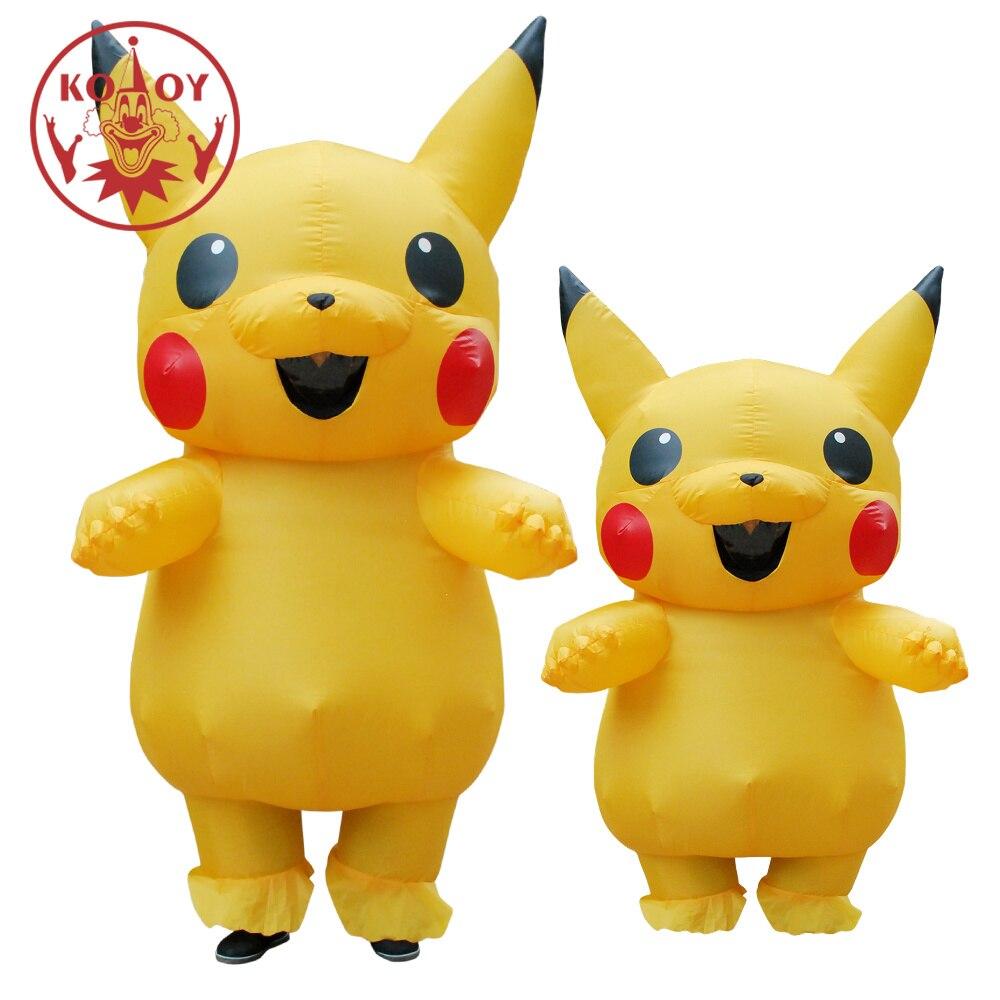 Inflatable Pikachu Cosplay carnaval Adult Pokemon costume Halloween costumes for women Girls kids mascot cosplay
