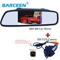 """Posterior del coche cámara de marcha atrás con 4IR + de calidad Superior 800*480 hd ccd 4.3 """"kit de monitor del espejo de coche PARA HYUNDAI I30/para kia alma"""