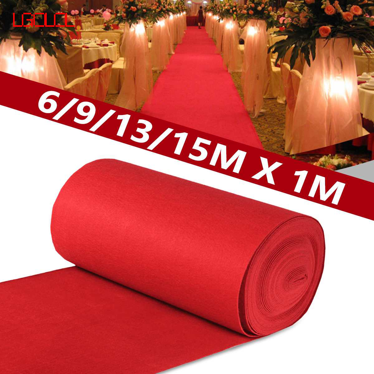 6/9/13 / 15m Red Outdoor Carpet Wedding Banquet Celebration Film Festival Event Reward Decoration Carpet Free Shipping LGOLOL