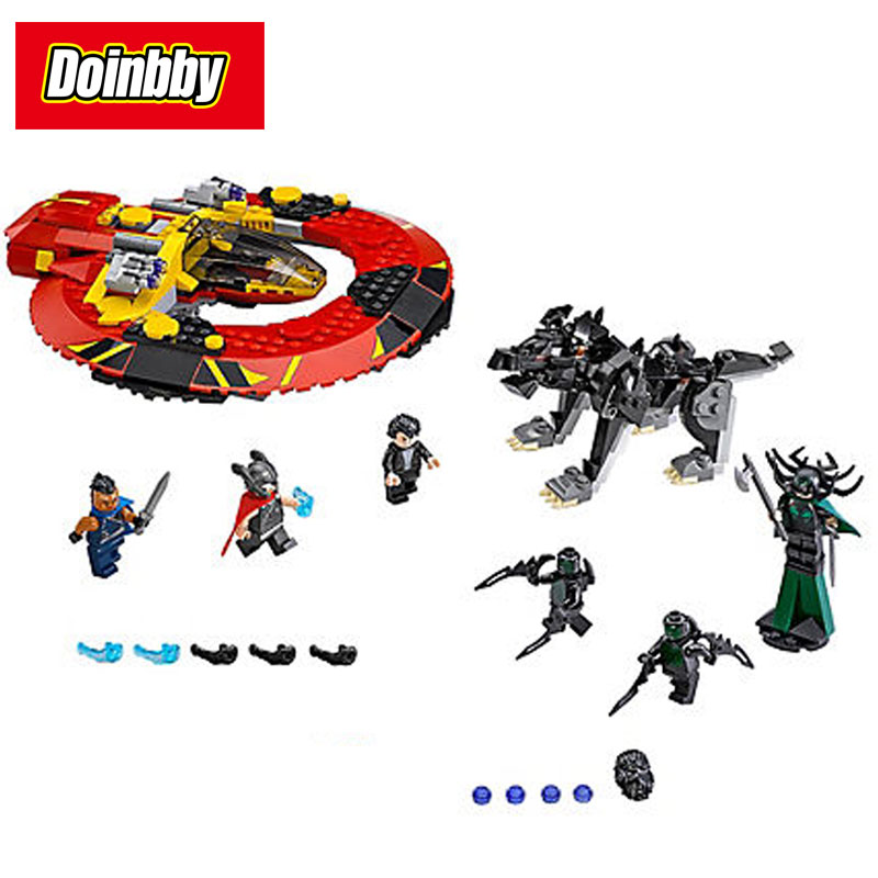 Bela 10747 434Pcs Marvel Super Heroes The Ultimate Battle for Asgard Building Block Brick Toys Kid Gift Compatible 76084 lepin 07038 1165pcs super hero spiderman web warriors ultimate bridge battle building block compatible 76057 toys for boys gifts