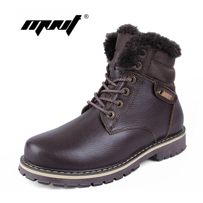 High quality full grain leather men winter boots,handmade fashion men snow boots plus size super warm velvet winter shoes кеды кроссовки высокие le coq sportif portalet mid craft hvy cvs suede dress