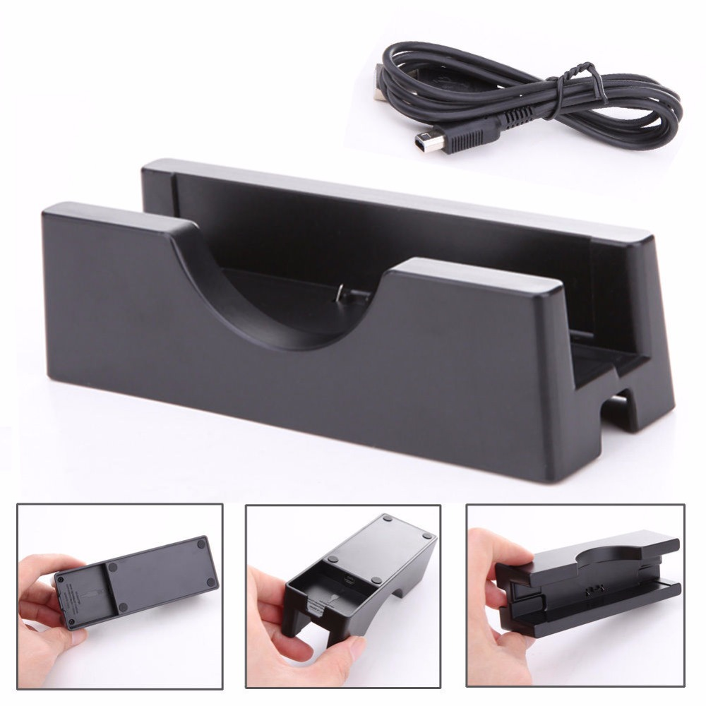 NEW Charger Charging Stand Cradle Docks & Cable For Nintendo NEW 3DS / 3DSLL /XL compatible new ep1054 charging cradle charging rack for minolta ep1050 1080 1054 2080 3000