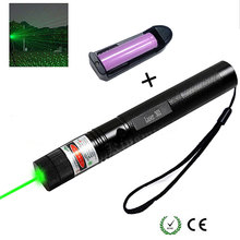 Green Laser Pointer 10000m Laser Sight Adjustable Focus Lazer pen Light with Safe Key with Sky stars Cap