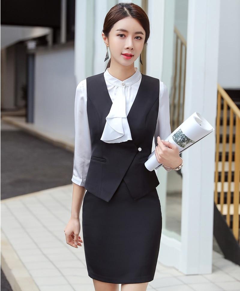 2019 neue Styles Frühling Sommer Blazer Mit Tops Und Rock Sets Weste Mantel & Weste Damen Büro Uniformen Outfits Mode rot