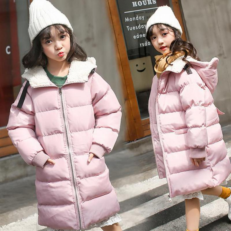 Girls Down Coat 2018 New Fashion Hooded Jacket With Collar Cotton Down Kids Clothes Jackets Children's Outwear Christmas Gift 14 2016 men of new style fashion male hooded embroidery cotton quilted jacket down jacket coat