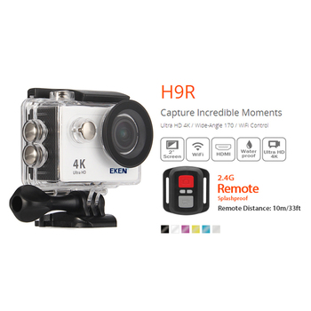 "100% Original EKEN H9R Ultra HD 4K WiFi Action cam with 2.4G Remote Control 2.0"" screen 30M waterproof sport mini cam 1"