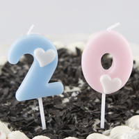Creativity Digital candles Birthday Cake Decoration Home Party Cake Candles Love Numbers Art Candles Wedding Party Decor