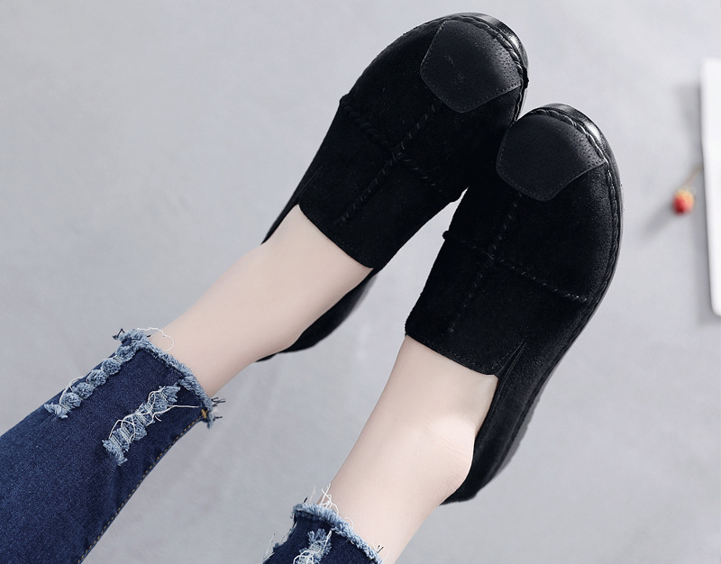 Plus Size Summer Women Flats Fashion Splice Flock Loafers Women Round Toe Slip On Leather Casual Shoes Moccasins New 2019 VT209 (21)