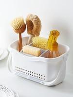 Handle drain rack multi function storage basket Kitchen tableware storage rack plastic box