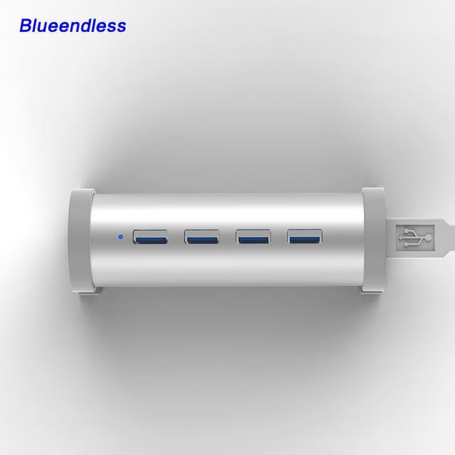 En la Acción! 1 UNIDS de Alta Velocidad de 4 Puertos USB 3.0 hub + Interruptor + USB 3.0 cable H4U3 Nuevo Llega HUB