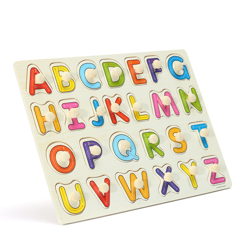 New Kid Education Toys Alphabet ABC Wooden Jigsaw Puzzle Toy Children Kids Early Learning Educational Game Gift children s early childhood educational toys the bear change clothes play toys creative wooden jigsaw puzzle girls toys