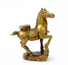 opening light mini statue lucky blessing good luck mascot copper pray bless horse figurine Win right away statuette gift crafts(China)