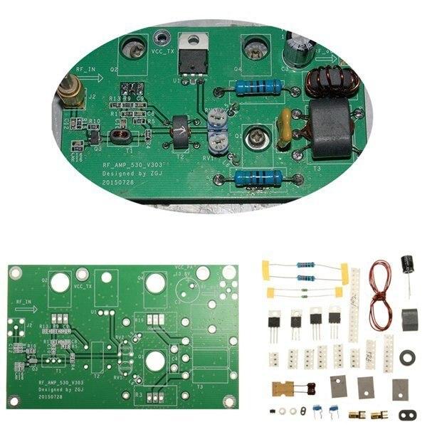 Free Shipping DIY 45W SSB HF Linear Power Amplifier Amateur Radio Transceiver Shortwave Radio Development Board Kit