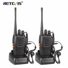 2 шт RETEVIS H777 рация UHF 400-470 Любительское радио МГц Hf трансивер двухстороннее радио Communicator зарядка через usb радио-антенна