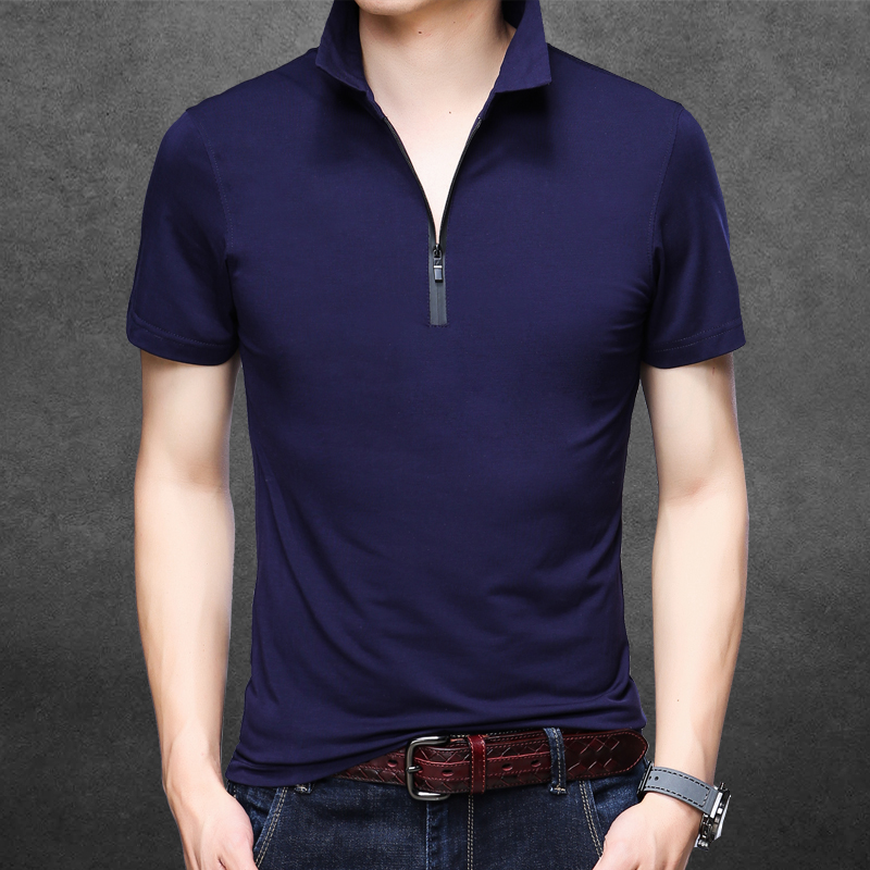 New 2018 summer mens slim plain color   polo   shirts male fashion design pure cotton short sleeve   polos   clothes