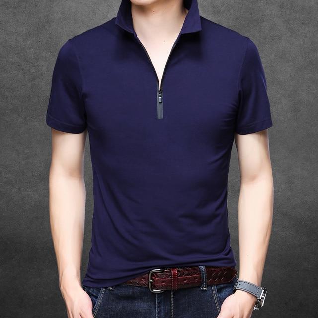 ab2a7e68d92 New 2018 summer mens slim plain color polo shirts male fashion design pure  cotton short sleeve polos clothes