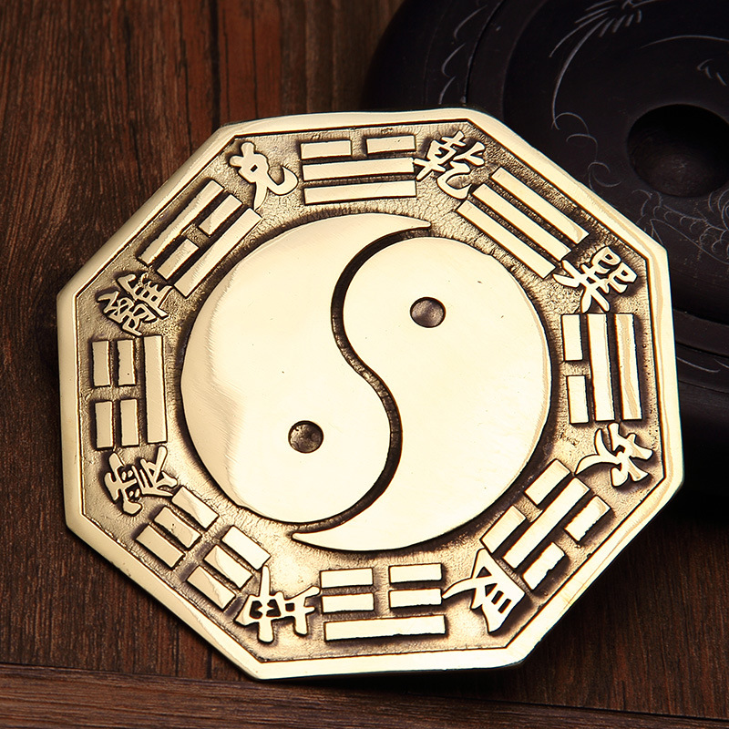 Fengshui Chinesischen Konkaven Konvexen Kupfer Taiji Bagua Spiegel Wand Hängen Die 8 Hexagrams Spiegel Dekoration Zubehör