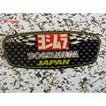 Etiqueta de aluminio de la motocicleta tubo de escape yoshimura etiqueta yoshimura silenciador de metal etiqueta
