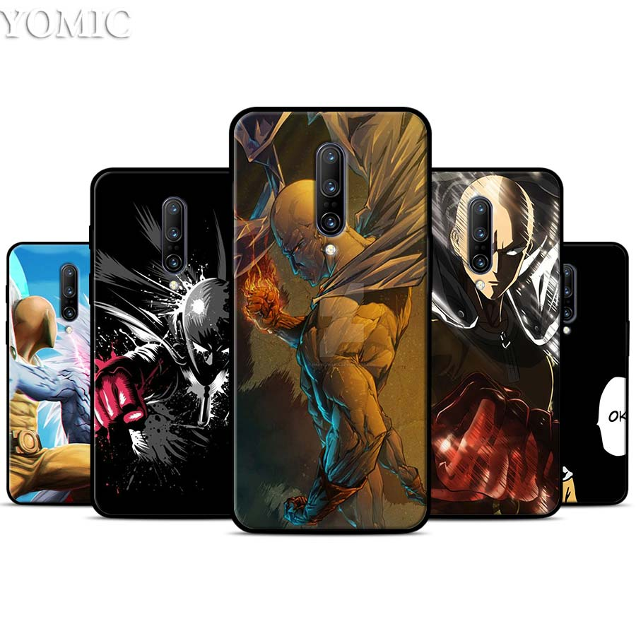 One punch man Saitama Silicone Case for font b Oneplus b font font b 7 b