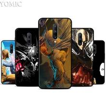 One punch man Saitama Silicone Case for Oneplus 7 7Pro 5T 6 6T Black Soft Case for Oneplus 7 7 Pro TPU Phone Cover