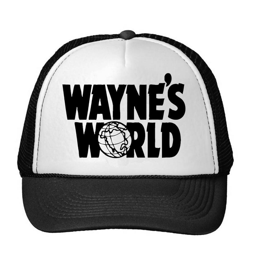 Prix pour WAYNE'S WORLD Imprimer Casquette de baseball Chapeau Pour Femmes Hommes Unisexe Maille Réglable Taille Noir Drop Ship M-108